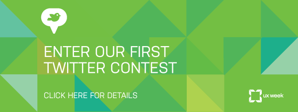 Enter our UX Week Twitter Contest